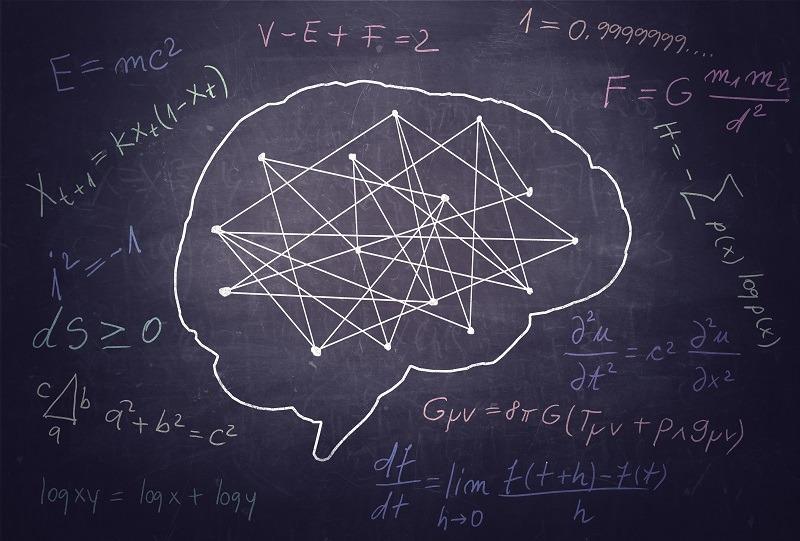 Brain drawn on a chalkboard