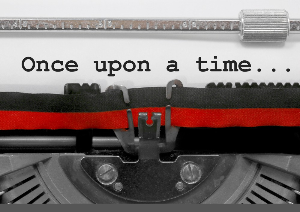 Once upon a time written on a typewriter