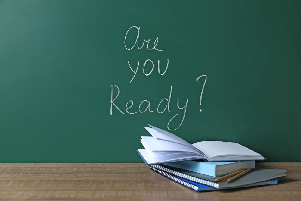 Are you ready written on chalkboard