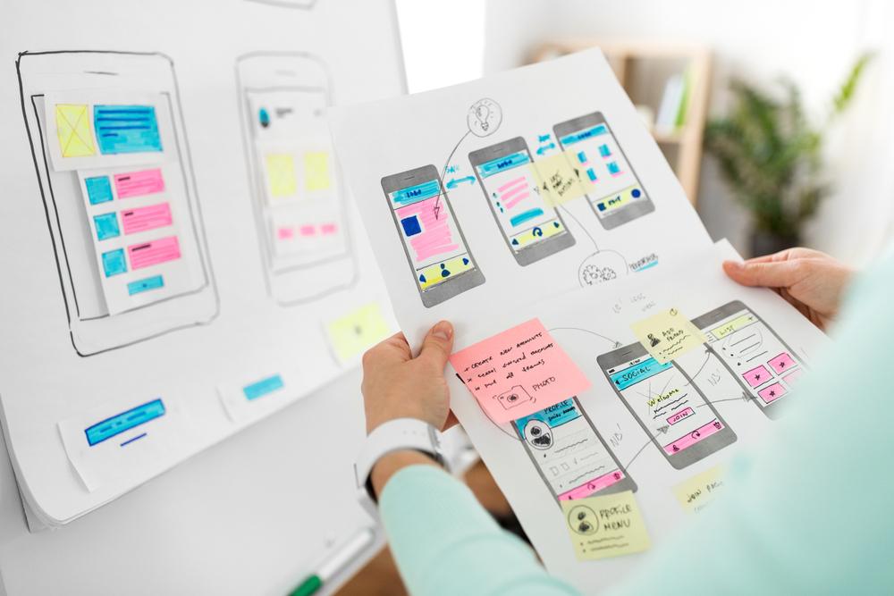 technology interface design concept